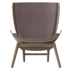 The Reader Armchair - Dark Oak - Dusty Rose