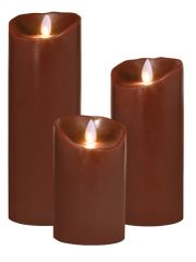 Real Wax LED Candle (Bordeaux)