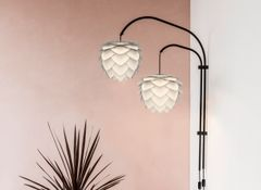 Willow Double Wall Hanger Black
