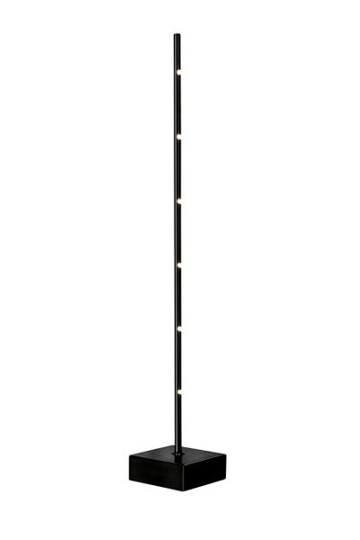 Cane Table Lamp Black Satin