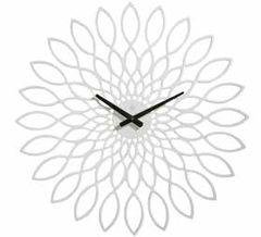 Oslo Wood White Clock