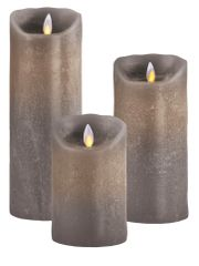 Real Wax LED Candle (Taupe)