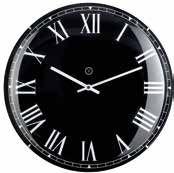 Lima Black Clock Large