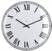 Lima White Clock Large