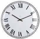 Lima White Clock Small