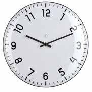 Quito White Clock Large
