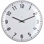 Quito White Clock Large