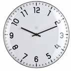 Quito White Clock Small