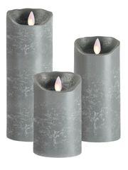Real Wax LED Candle (Grey)