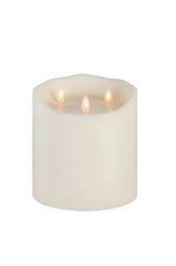 Real wax LED Candle Finka Tripple Flame (Ivory)