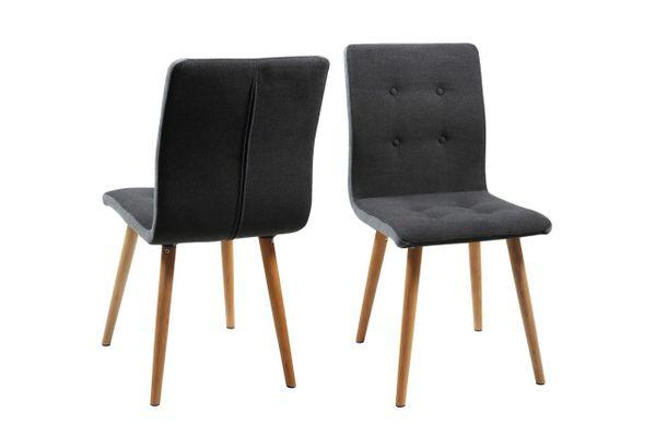 2 x Esbjerg Dark Grey Dining Chairs