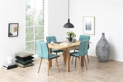 Esbjerg Light Petrol Dining Chairs x 2