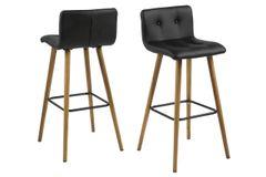 2 x Esbjerg Black Barstools