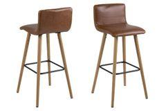2 x Esbjerg Vintage Brandy Barstools