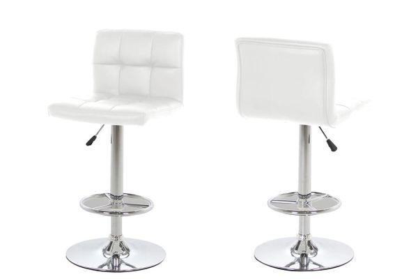 2 x Slagelse White Barstools