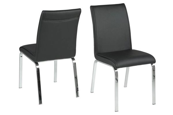 4 x Glostrup Black Dining Chairs