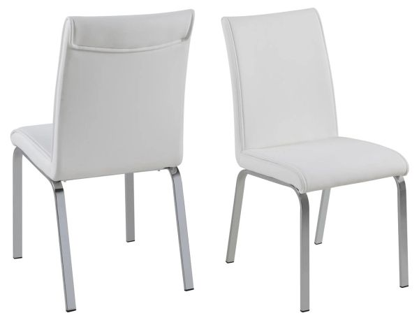 4 x Glostrup White Dining Chairs