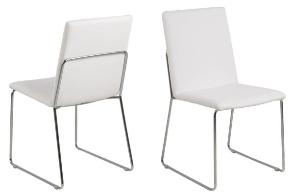 4 x Viborg White Dining Chairs
