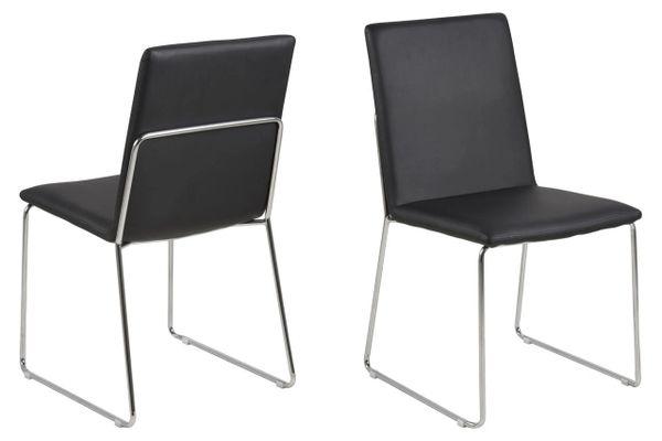 4 x Viborg Black Dining Chairs