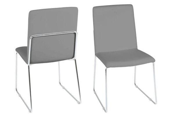 4 x Viborg Grey Dining Chairs