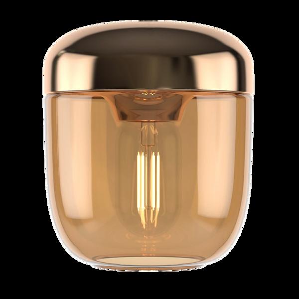 Acorn Amber Brass Shade