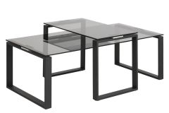 Fredericia Coffee Table set Smoke Glass Table Top