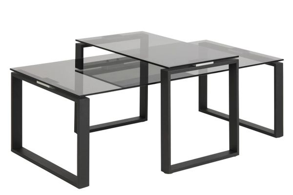 Fredericia Coffee Table set Smoke Glass Table Top