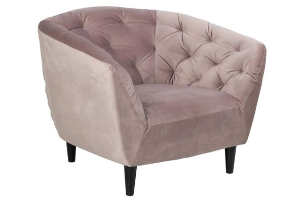 Bergen Easy Chair Dusty Rose