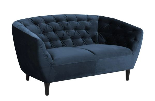 Bergen 2-Seater Sofa Navy Blue