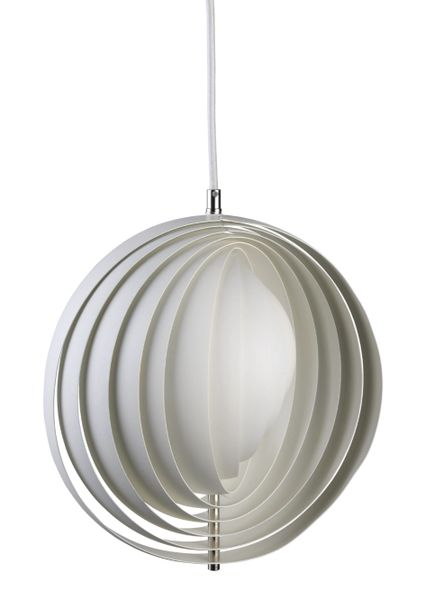 Verpan Moon Small White Pendant Ø34 cm