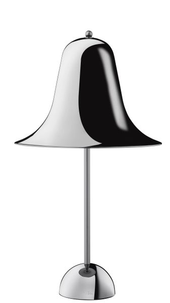 Verpan Pantop Table Lamp Black Chrome