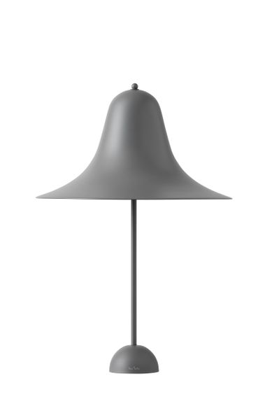 Verpan Pantop 45 Table Lamp Grey Metal