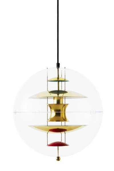 Verpan VP Globe with Brass Finish Pendant