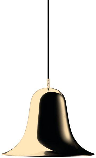 Verpan Pantop Plated Shiny Brass Pendant