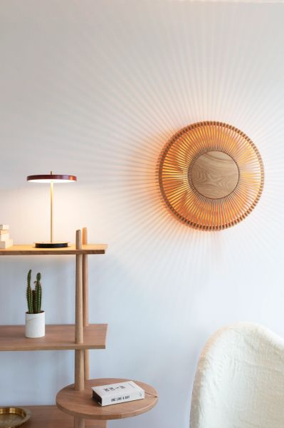 Clava Up Wood Wall/Ceiling Lamp