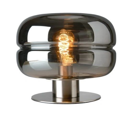 Havanna Table Lamp Smoked Glass Small
