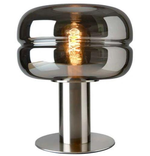Havanna Table Lamp Smoked Glass Large