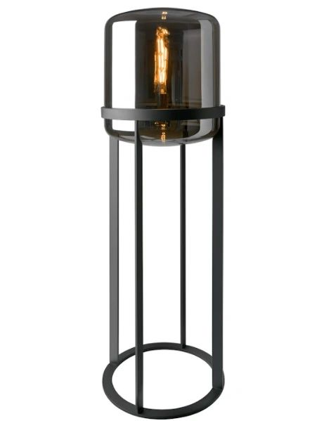 Melbourne Floor lamp Smoked Glass
