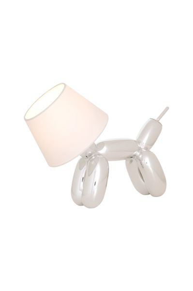 Balloon Dog Table Lamp Chrome