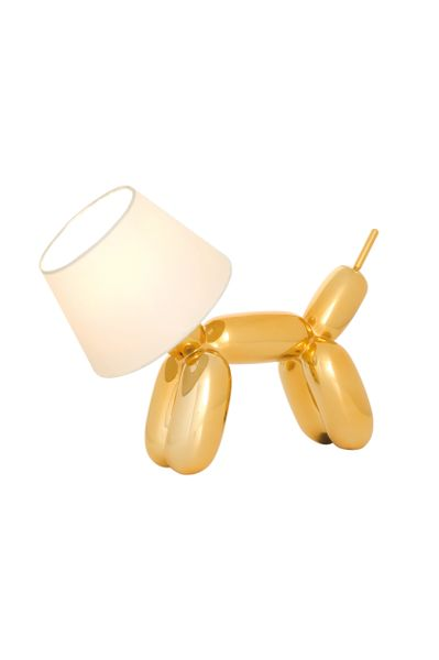 Balloon Dog Table Lamp Gold