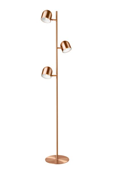 Dice Triple Floor Lamp Copper