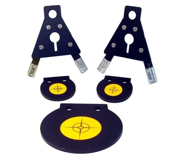 AR500 Steel Double Tap Center Angled IDPA 2//3 12x20 3//8 AR500 W// Bolt Stand Kit