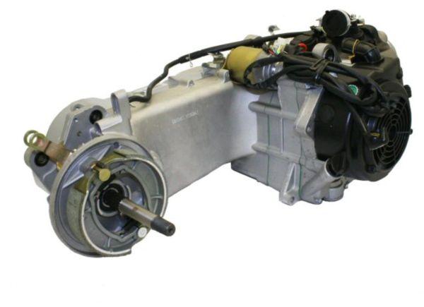 150cc 4-Stroke LongCase GY6 Gas Engine with automatic CVT transmission
