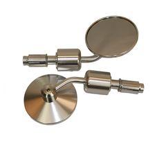 "Universal Parts 7/8"" Bar End Mirrors - Silver"