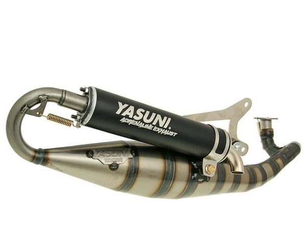 Yasuni R/07 Performance Exhaust For Horizontal Minarelli - Black