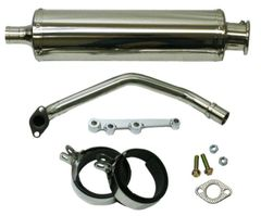 SSP-G 2nd Gen GY6 Round Stainless Performance Exhaust