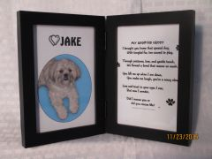Adopted / Rescue Pet - Double Frame for Picture and Poem