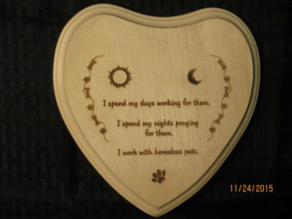 Rescue / Shelter Pets - Volunteer Workers Creed Heart
