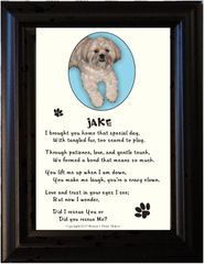 Adopted / Rescue Pet - Single Picture Frame with Poem