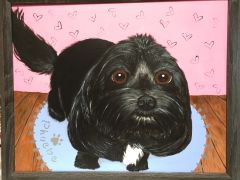 Adopted Pet Custom Portrait Painting - From your favorite photo